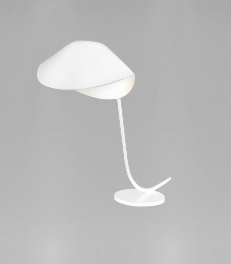 Table lamp model 'Antony Lamp' designed by Serge Mouille in 1955.  Manufactured by Collection Serge Mouille in France. The production of lamps, wall lights and floor lamps are manufactured using craftsman's techniques with the same materials and