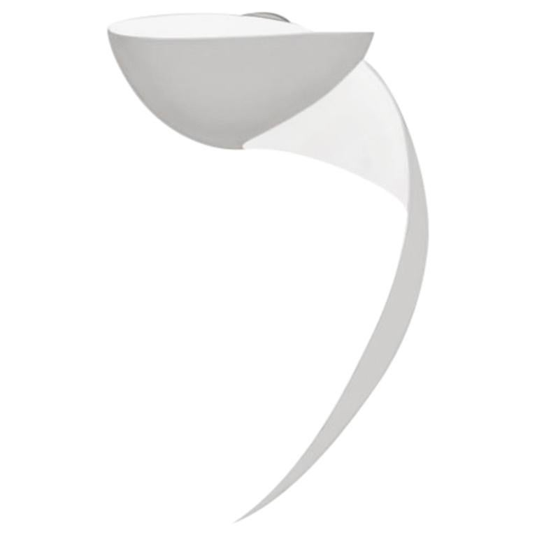 Serge Mouille Mid-Century Modern White Flame Wall Lamp For Sale
