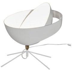 Serge Mouille Mid-Century Modern White Saturn Table Lamp