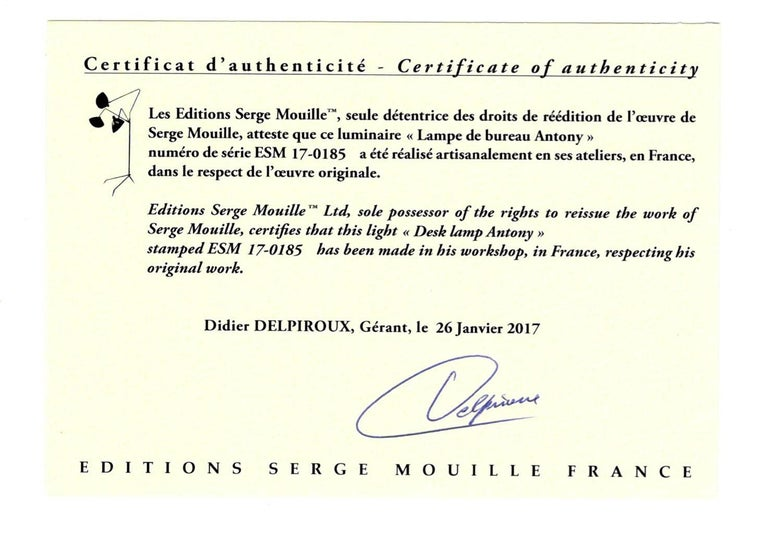 Aluminum Serge Mouille Mid-Century Modern White Tripod Lamp For Sale
