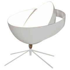 "Serge Mouille ""Saturn"" Table Lamp in White"