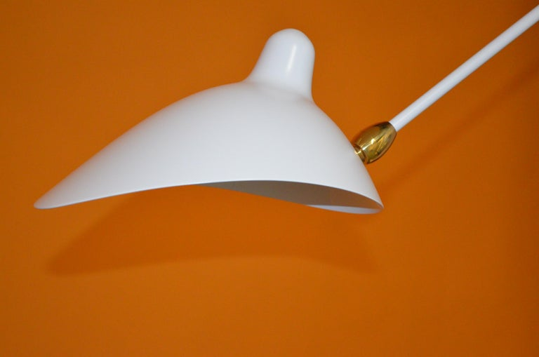 Mid-Century Modern Serge Mouille Sconce, 1-Arm, Double Swivel For Sale