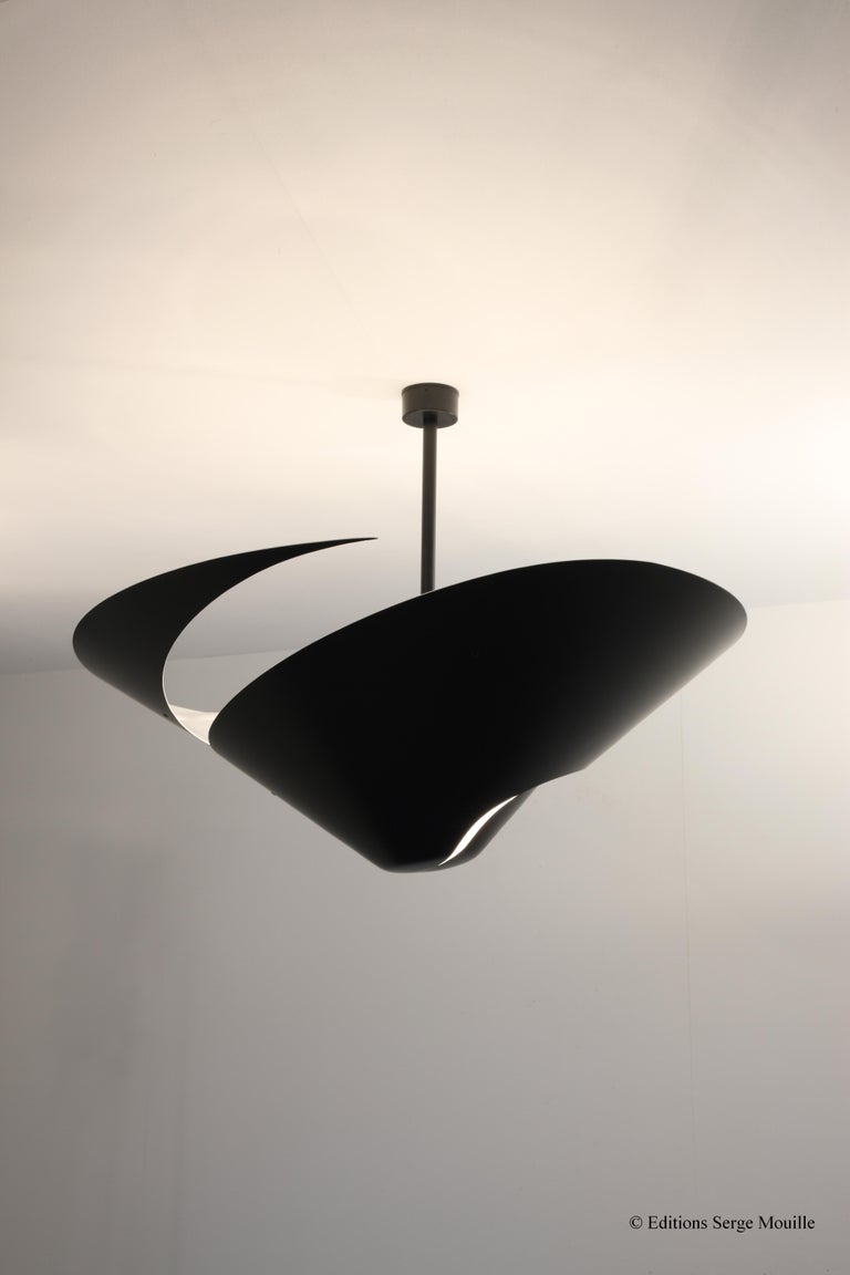 Contemporary Serge Mouille 'Snail' Ceiling Lamp For Sale
