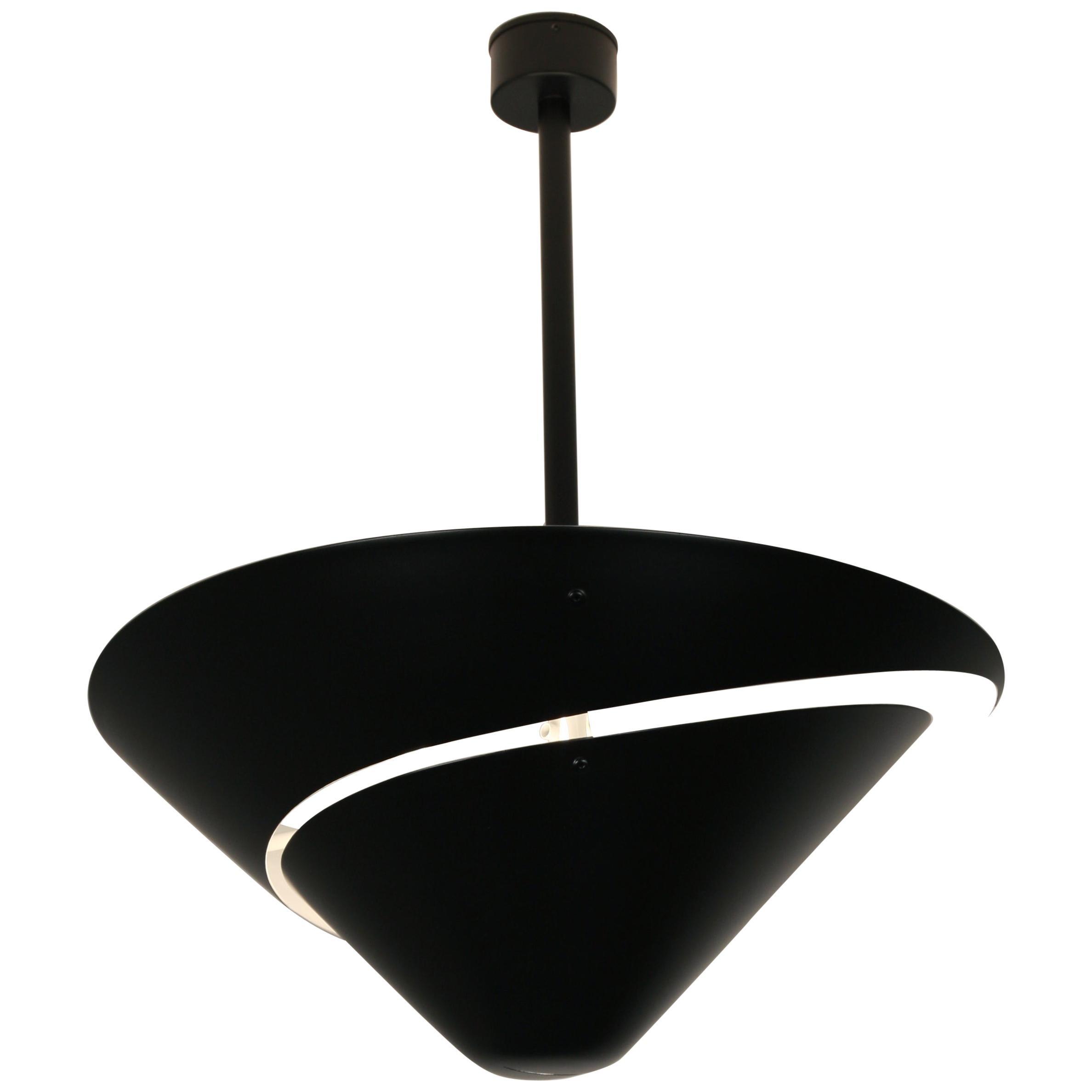Serge Mouille 'Snail' Ceiling Lamp