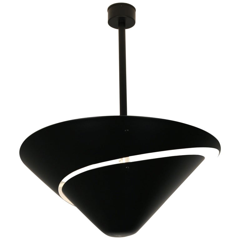 Serge Mouille 'Snail' Ceiling Lamp For Sale