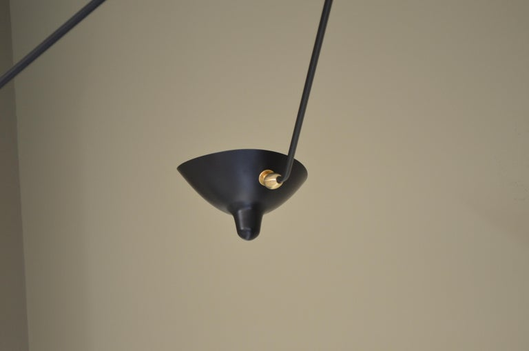 Mid-Century Modern Serge Mouille Spider Ceiling Lamp with Three Arms For Sale