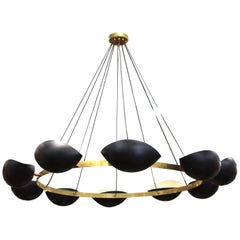 Serge Mouille Style Modern Ring Form Chandelier