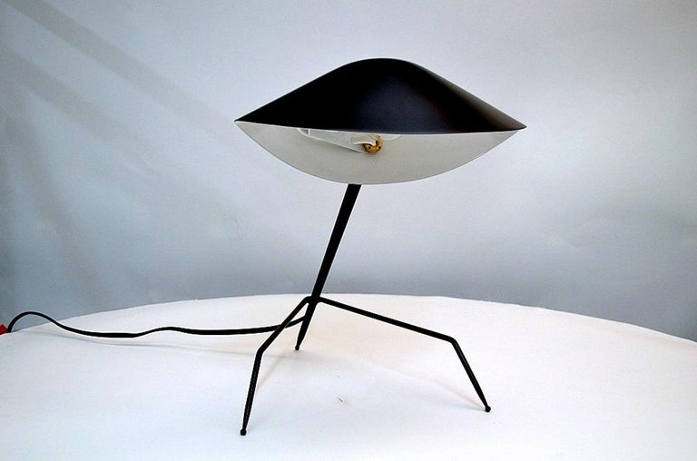 French Serge Mouille Tripod Desk Lamp For Sale