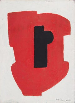 Composition abstraite, Serge Poliakoff, Gouache, Canvas, Abstract, Post-War, 60'