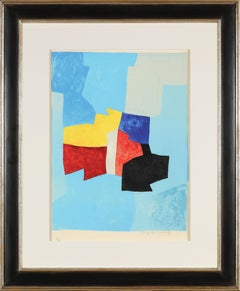 20th Century abstract Serge Poliakoff, colored Lithograph