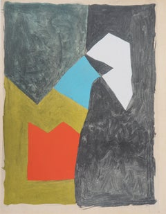 Abstract composition - Lithograph, 1956