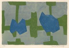 Composition Bleue et Verte