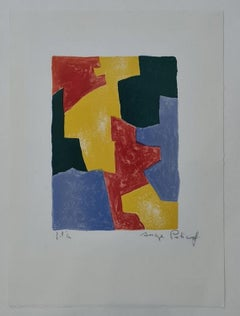 Composition in blue, red, yallow, and green n°40