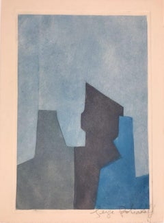 Composition in blue XXIV