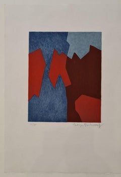 Composition in red and blue n°68