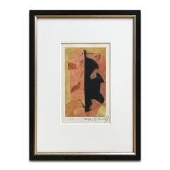 Composition Orange, Rouge et Noire, 1957, Modern Artist, Abstract Art