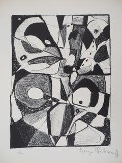 Composition - Original lithograph, Handsigned and Numbered / 100 (Schneider #1)