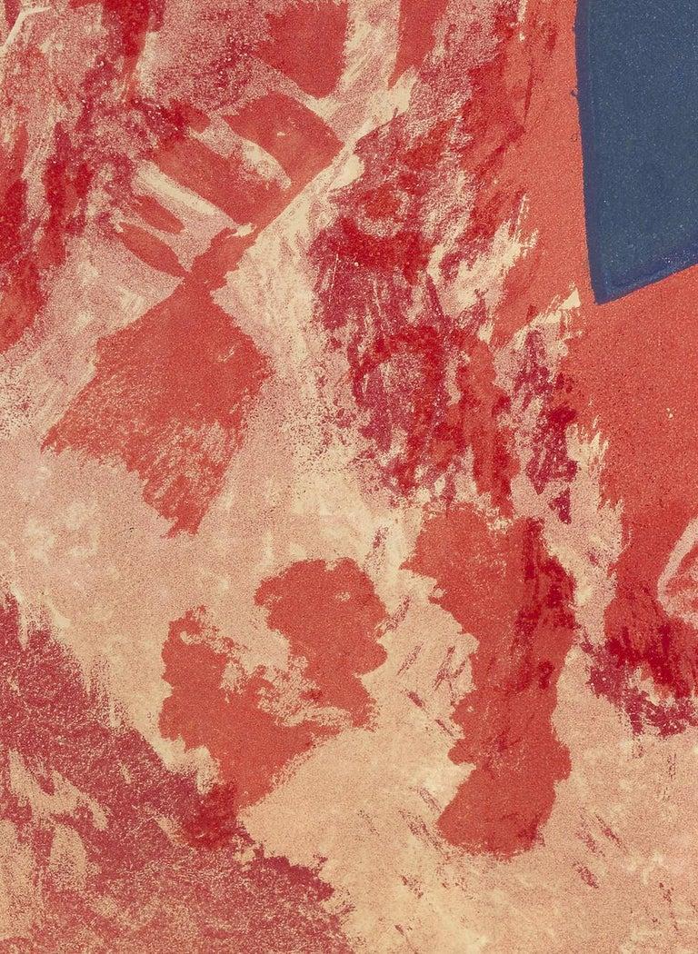 Komposition in Rot, Grau und Schwarz - Print by Serge Poliakoff