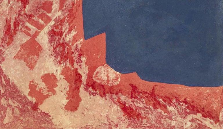 Komposition in Rot, Grau und Schwarz - Abstract Expressionist Print by Serge Poliakoff