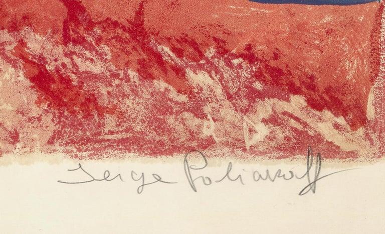 Komposition in Rot, Grau und Schwarz For Sale 1