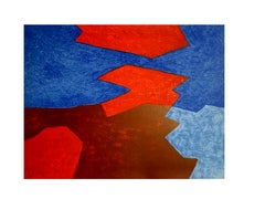 Serge Poliakoff - Abstract Beach - Original Lithograph