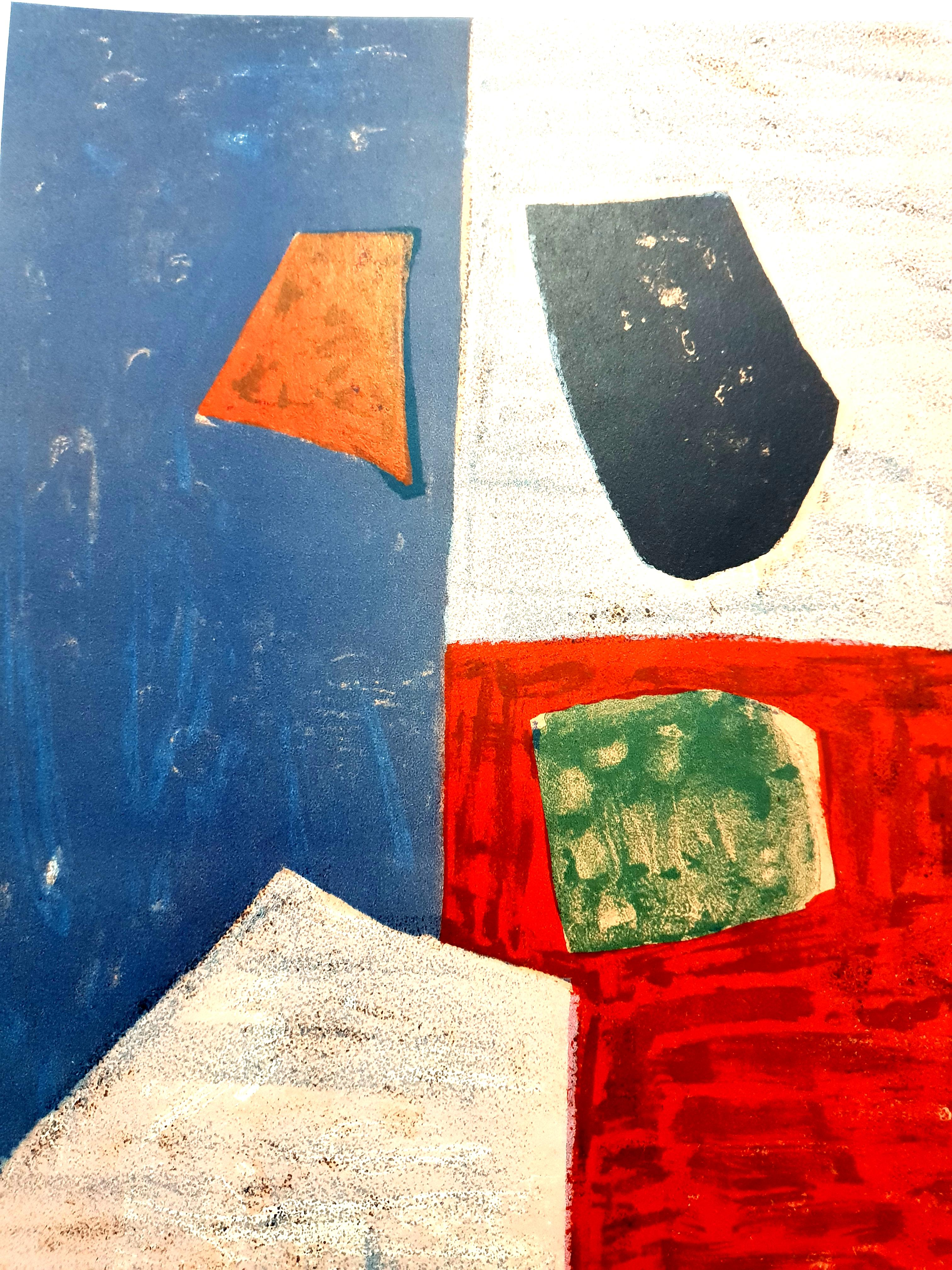 Colorful Abstract Composition - Lithograph