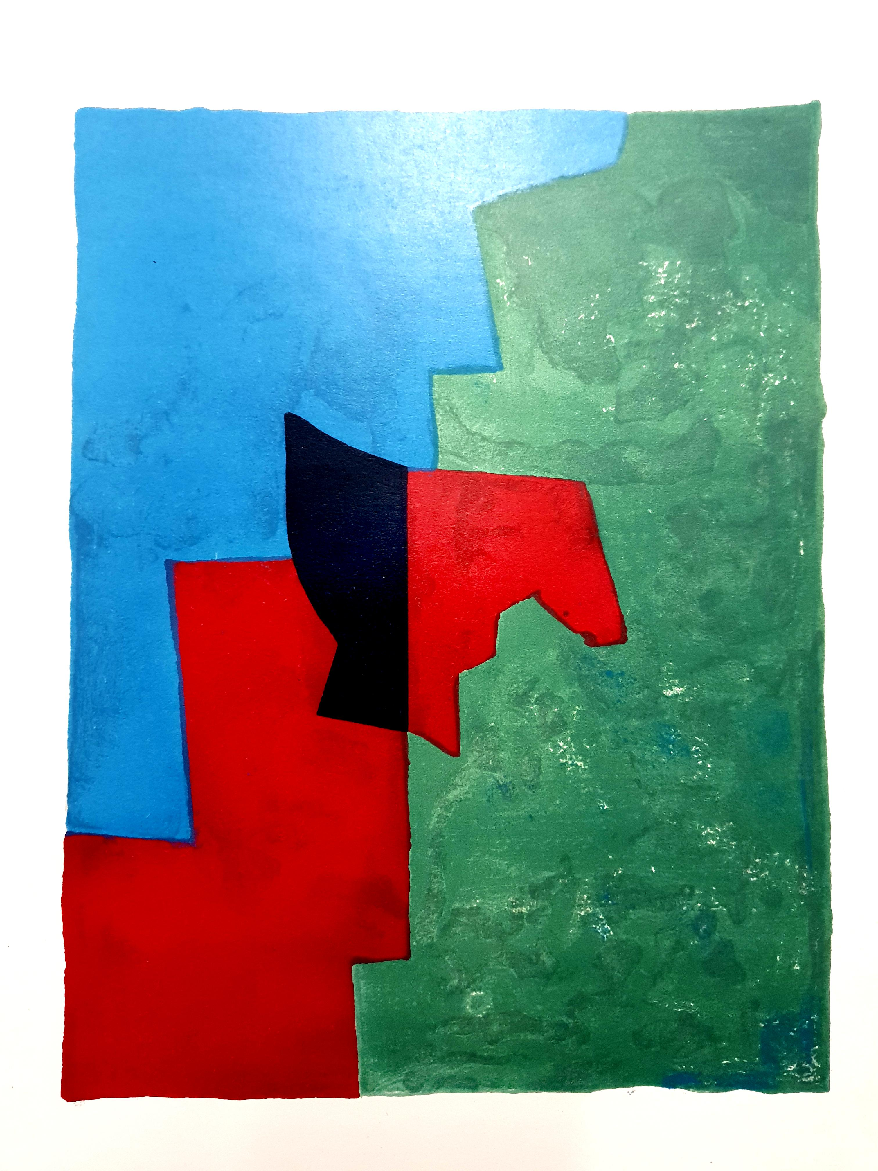 Serge Poliakoff - Original Abstract Composition - Lithograph