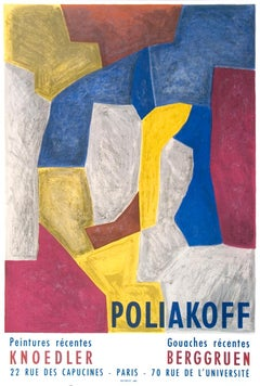 """Serge Poliakoff-Peintures Recentes-26.5"""" x 18""""-Lithograph-Abstract-Multicolor"""