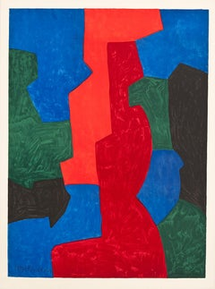 Untitled Abstract lithograph by Serge Poliakoff