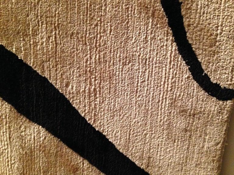 Hand-Knotted Serge Poliakoff Silk Rug Sabine de Gunzburg For Sale