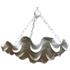 Serge Roche Style Clam Shell Chandelier
