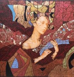 Contemporary Figurative Painting 'Pensamiento' by Sergey & Olga Kammenov
