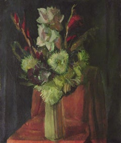 Flowers, Painting, Oil on Canvas