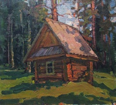 Forest hut, Painting, Oil on Other