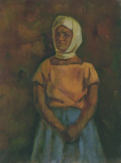 Girl in headscarf, Painting, Oil on Canvas