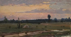 Summer evening after the rain, Painting, Oil on Other