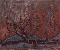 Winter evening, Painting, Oil on Other