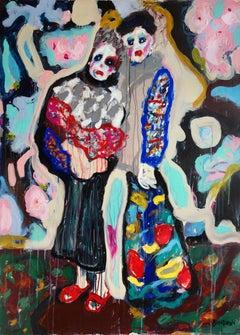 Always together . Acrylic Canvas Abstract Color Modern Mid-century Bondarev 2015