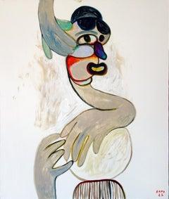 Gloves 1. Portrait Painting Acrylic Grey Luxury Interior Pop-art Modern Canvas