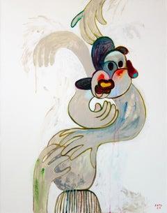 Gloves 2. Portrait Painting Acrylic Grey Luxury Interior Pop-art Modern Canvas