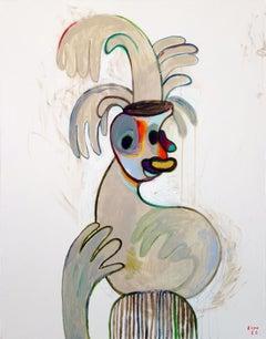 Gloves 3. Portrait Painting Acrylic Grey Luxury Interior Pop-art Modern Canvas