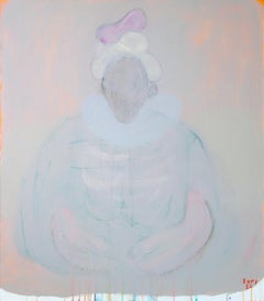 King . Portrait Painting Acrylic Colors Grey Mysterious Impressionism Modern