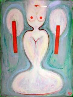 Mermaid . Portrait Painting AcryliconCanvas Modern Nude Decorative Pop-art Lady