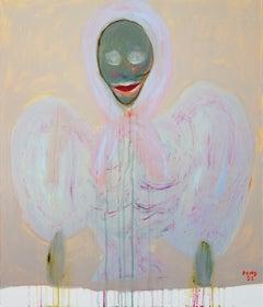 Prince 2. Portrait Painting Acrylic Grey Luxury Interior Pop-art Modern Canvas