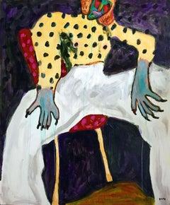 White pants. Portrait Modern Impressionism Fashion Luxury Interior Shoes Pop art