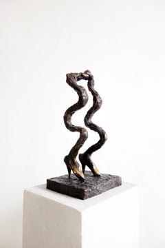 Shaky Steps . Sculpture Bronze Modern Shoes Waves Fun Limited Сontemporary Legs