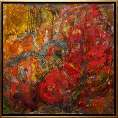 """""""Still Life With Meat"""" Abstract by Sergey Fedotov 39"""" x 39"""" Oil on Canvas"""