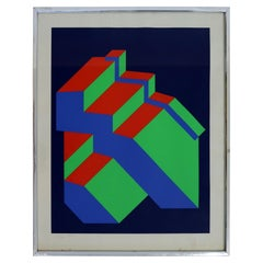 Serghi Untitled 1977 Op Art Contemporary Signed Lithograph