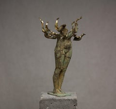 """Fateful Flowers №1"" Sculpture 17""x11.5""x11.5""inch Ed. 1/1 by Sergii Shaulis"
