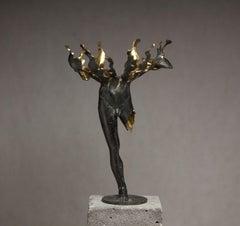 """Fateful Flowers №2"" Sculpture 17.5"" x 12 ""x 13"" inch Ed. 1/1 by Sergii Shaulis"